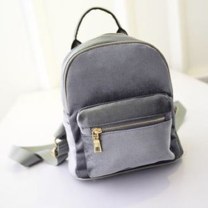 Handbags - $15💋New Trendy Silver Mini Velvet Backpack